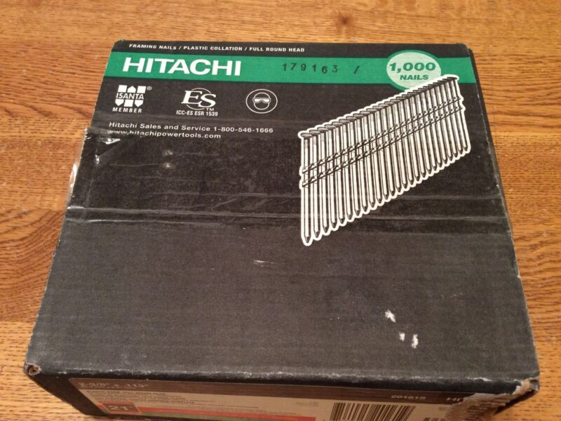 "675 Hitachi 20161S 2-3/4""X.113 Framing Nails 21 Degree Full Head Hot Dipped Galv"