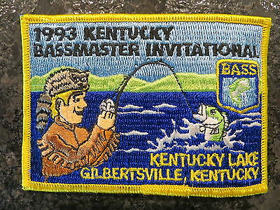Rare Vintage Bassmaster Tournament Patch 1993 Kentucky Invitational