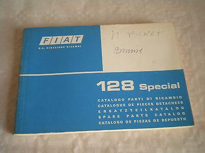 Vintage original factory parts catalogue Fiat 128 special 1975