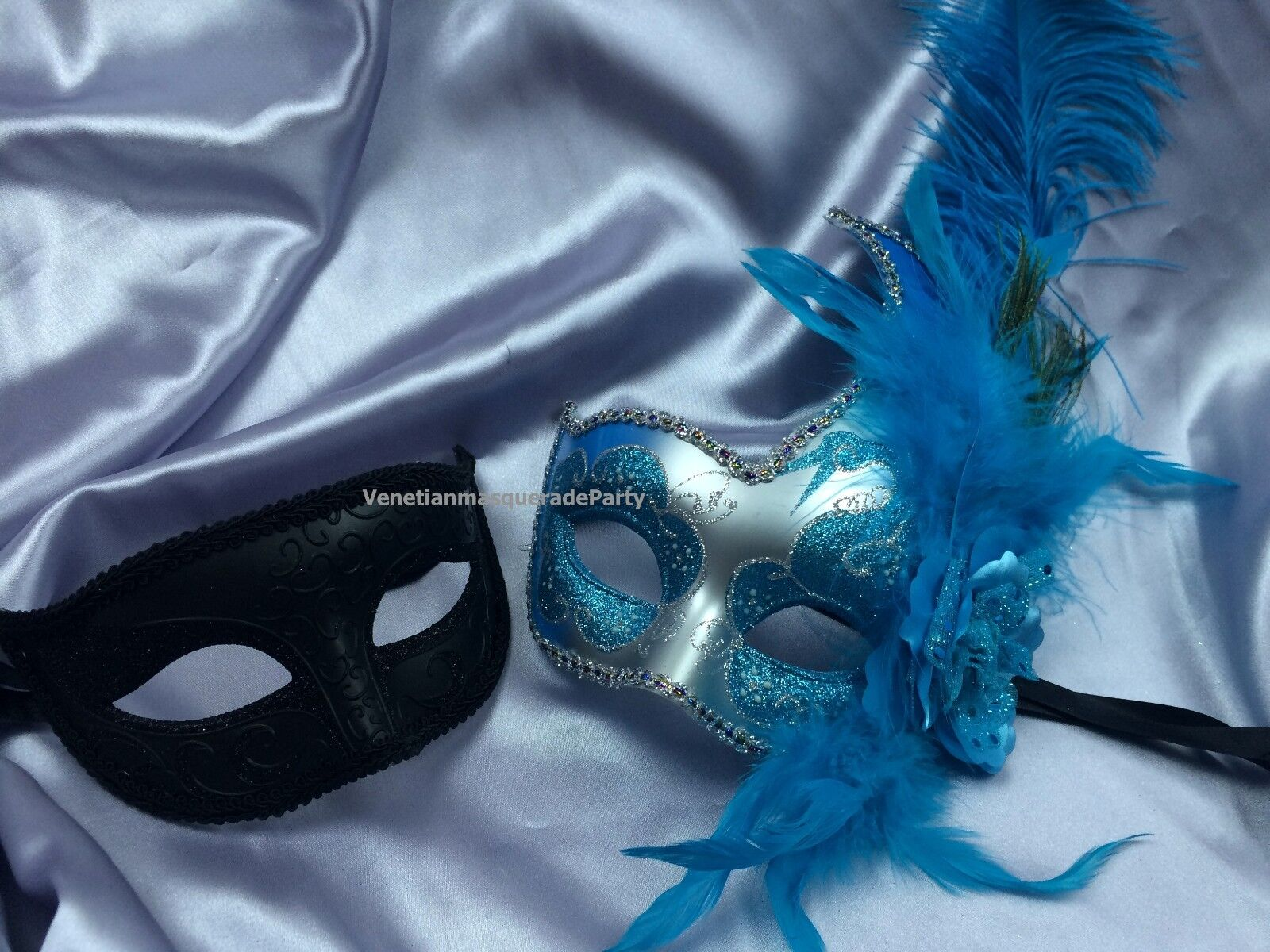 Mardi Gras Masquerade Set For man and woman fancy Dress up Party ...