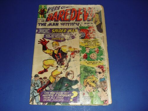 Daredevil #1 in low grade from 1964! Marvel Comics unrestored C84