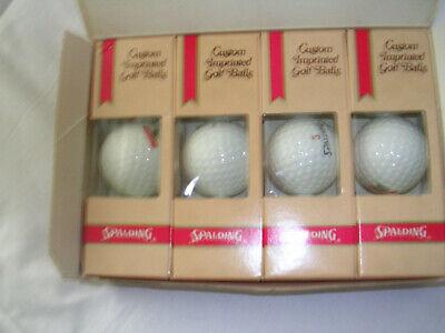 """12 Vintage Custom Imprinted Spalding Golf Balls """"Dekalb Seed Corn""""Advertising."""