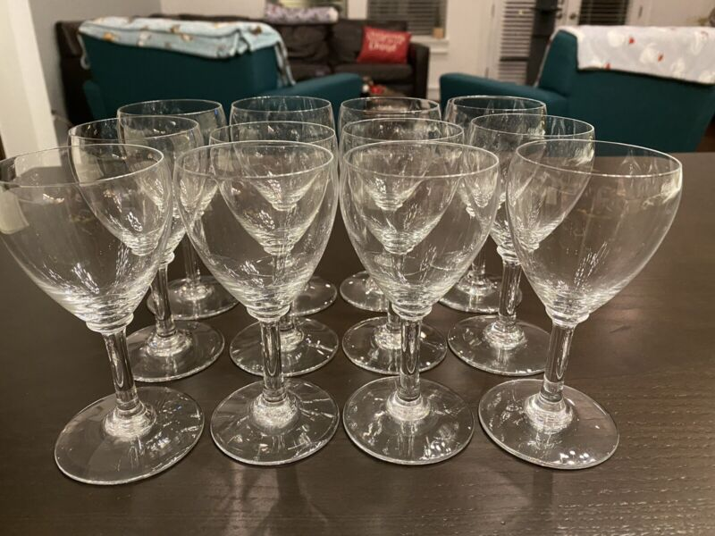 (12) Count Baccarat Crystal From France-sweet Wine Glasses