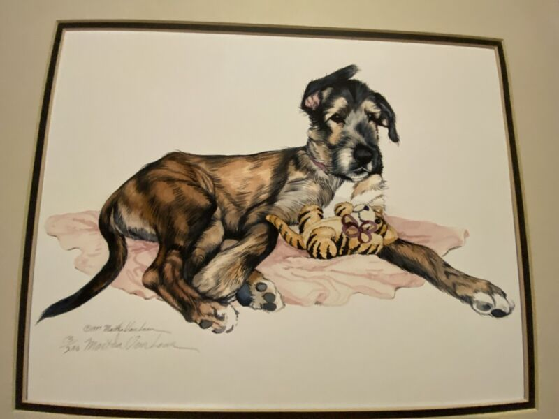 Irish Wolfhound Limited Edition Pencil Signed 11 X14 Print By Van Loan