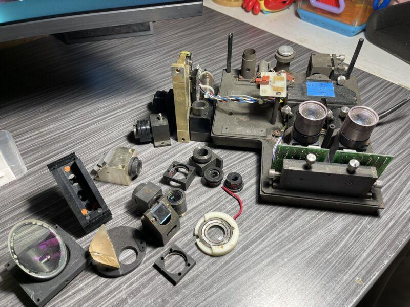Lot of LASER OPTICS Lab Parts, Lens Adapters, Scientific Equipment