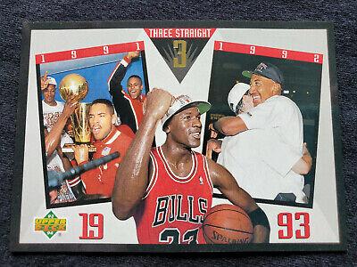 = 1993 Upper Deck Michael Jordan Bulls Three Straight Insert SP 4 = Near Mint