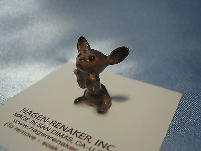Hagen Renaker Dog Chihuahua Black Pup Figurine Miniature 0338 Ceramic NEW