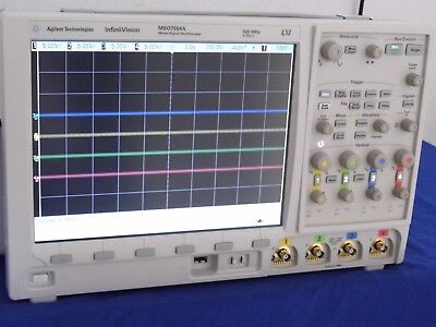 Agilent Mso7054a 500mhz 4gss 4ch Oscilloscope 3 In Stock