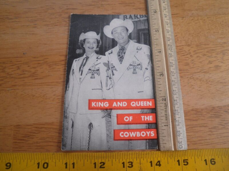 Roy Rogers and Dale Evans Cowboys Christian tract pamphlet 1950