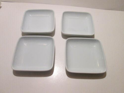 "Vintage Lot of 4 Korean Celadon Square Bowl Sauce Dishes 5"" circa 1990"