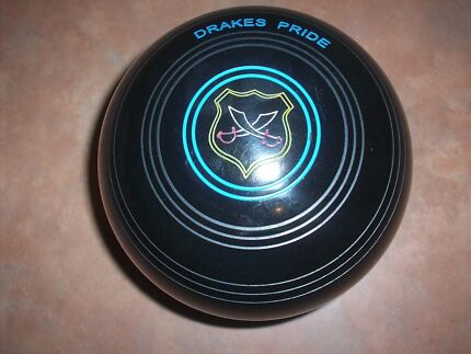 Drakes Pride International Lawn Bowls 3H WB12 Black Plain Gripped