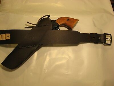 Single Action CROSS DRAW WESTERN Revolver Holster ONLY NO BELT 4.5