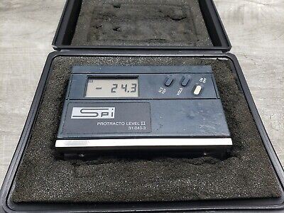Spi Protracto Level Ii 31-043-3 Digital Electronic W Case - New Battery