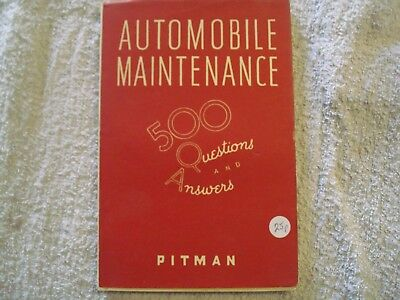automobile maintenance book 500 questions and answers
