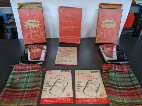 The Original Pocket Heaterette - David T Abercrombie Co.  lot of 3