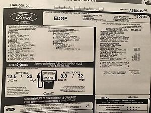 2010 Ford Edge Limited AWD * Leather * Warranty * Sunroof