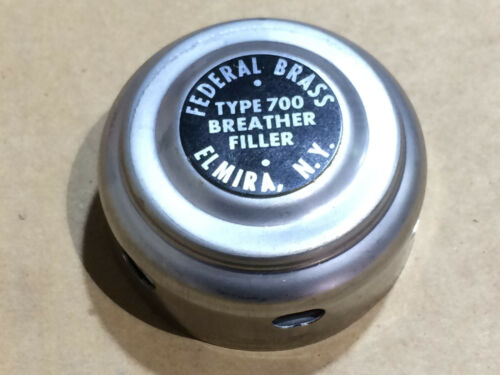 Federal brass type 700 Filler Breather Cap Hydraulic NOS Military Surplus