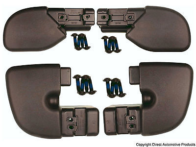 Set of 4 Bumper End Caps Front & Rear Left & Right Fits 1997-2006 Jeep Wrangler ()