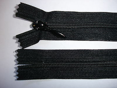 RV413 Reißverschluß YKK schwarz 40cm lang nicht teilbar 2 Stück