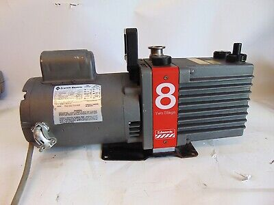 Edwards Two Stage E2m8 Rotary Vane High Vacuum Pump 12hp Rpm17251425 S4280