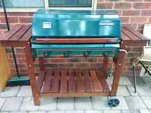 Stylish varnished wooden framed 4 burner barbeque South Perth South Perth Area Preview