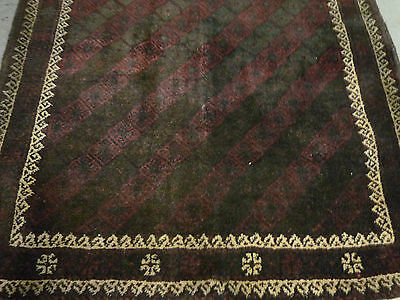 Unusual small Meshed Belouch oriental rug ( 2ft.11