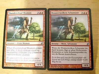 2x thundercloud shaman Donnerwolken-Schamane  MTG Magic