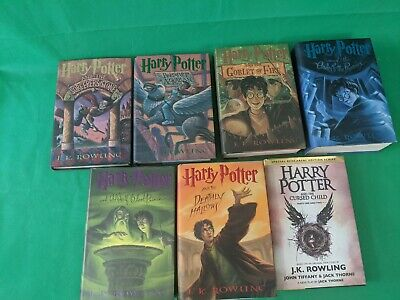 Lot of HARRY POTTER Books 1,3-7 Cursed Child HC DJ All First US Edition American