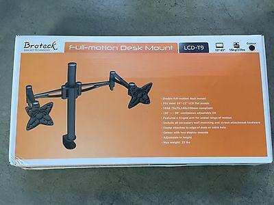 Крепление Brateck Double Full-Motion Desk Mount