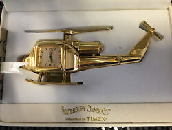 Waterbury Clock Co Rare Helicopter Desk Clock Tm Miniature New with Original Box