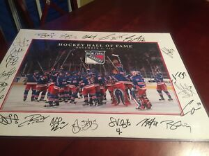 Signed New York rangers picture