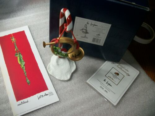 """NEW - GWS LE Porcelain Artist Will Bullas """"the froghorn..."""" #1986/2000 & PRINT"""