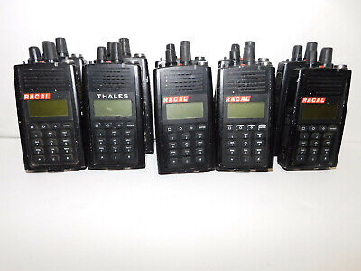 Lot Of 10 Thales T-25 Racal Prc-6894 Vhf P25 Digital Portable Radios - Parts