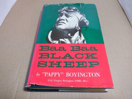 "AUTHOR INSCRIBED ""BAA BAA BLACK SHEEP"" PAPPY BOYINGTON USMC SIGNED GREGORY ACE"