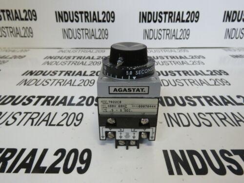 AGASTAT RELAY 7022CB TIME .5-5 SEC 480V NEW