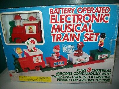Vintage,1985 Yuletide Concepts, Electronic Musical Battery Operated Train Set