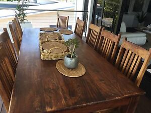 Eight Solid Mango Wood Dining Chairs Alexandra Hills Redland Area Preview