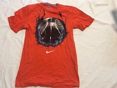 nike regular fit t shirt gray orange fall colorsports logo