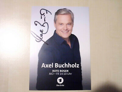 NEU Axel Buchholz Rote Rosen Autogrammkarte AK Autogramm Karte