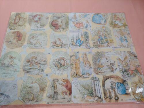 Vintage Beatrix Potter Paper Scrap Peter Rabbit Jeremy Fisher #1788 and #1789