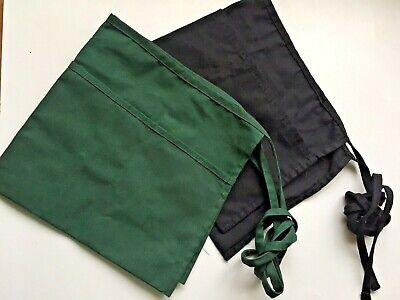 Serverwaiterwaitress 2aprons 3 Pockets Bar Restaurant Workers Blackgreen