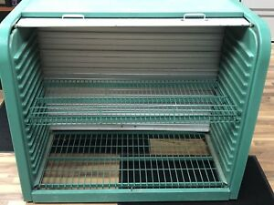 Automotive Shelving Unit with aluminum roll top door
