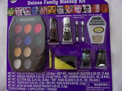 Halloween Deluxe Professional Quality Family Makeup Kit Grease Glitter Glow - Pro Halloween Makeup Kits
