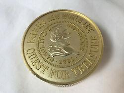 Vintage Bulova 1790 FARMERS 75th Anniversary Coin Desk Travel Alarm Clock
