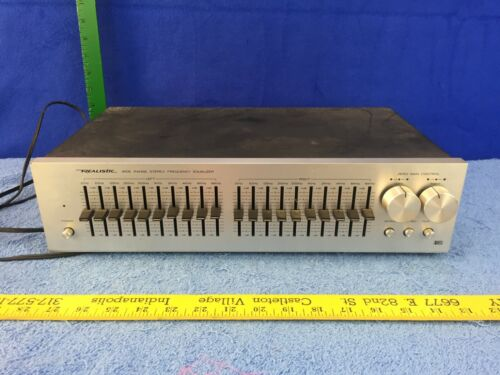 Realistic 31-2000A Stereo Graphic Equalizer EQ