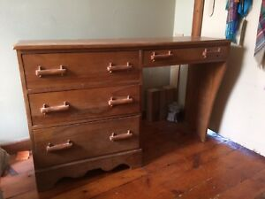 Solid wood dresser/desk