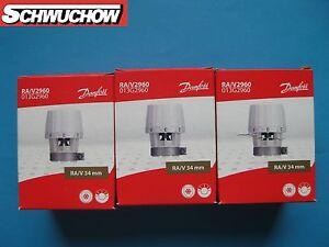 3 danfoss ra v 2960 f hlerelement 013g2960 34 mm thermostatkopf thermostatventil ebay. Black Bedroom Furniture Sets. Home Design Ideas