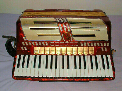 Hohner Atlantic IV MusetteRed Piano Accordion 120 Bass Very Good Condition