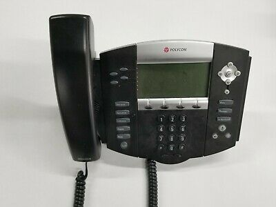 Lot Of 6 Polycom Ip550 Sip Digital Black Telephones Handsets