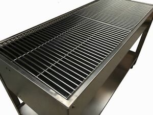 LARGE Zodiac STAINLESS STEEL CHARCOAL CATERING COMMERCIAL BBQ GRILL